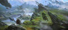 final fantasy concept art landscape - Google Search
