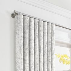 Metallic Silver Fois Bois Ripplefold Curtain | Loom Decor
