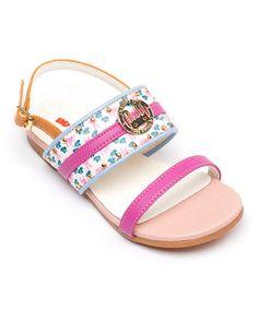Loving this Pink & Blue Bunny Sandal - Kids on #zulily! #zulilyfinds