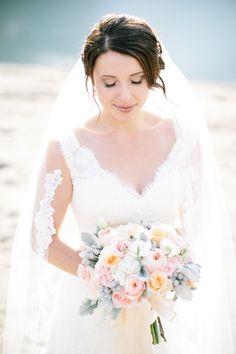 Soft beach bridal makeup