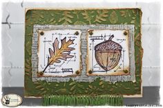 tammy tutterow: mini blueprint stamps http://tammytutterow.com/2012/11/fall-leaves-card-featuring-tim-holtz-stampers-mini-blueprints/#