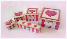 PINKIE HEART  conjunto caja de joyas / caja por gregolino en Etsy, €76.40