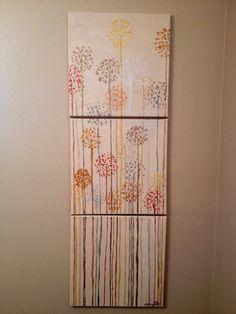 3 Canvas Dandelions on Etsy, $40.00