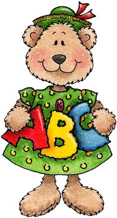 clipart decpoupage Teddy Bear ABC