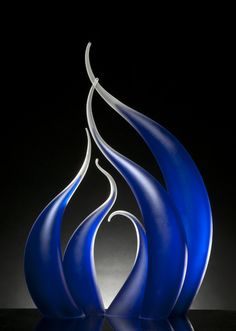 "*Art Glass - ""As The Rip Curls"" by Rick Eggert"