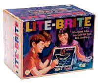 yup, stick colored pins into a picture and light it up. we were such rebels    The Most Popular Toys from the 1970's