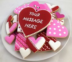 I Love You Cookies nothing says I love you