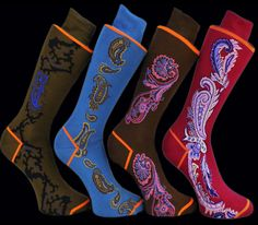I see Paisley on the move for fall :At a Glance Box of Paisley Socks