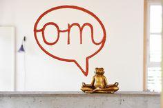 """Powerword: Sprechblase """"om"""" in Orange. Gesehen auf http://www.trendbezirk.com"""