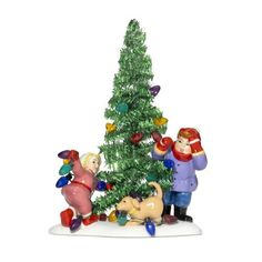 "On Christmas lane everyone helps decorates the tinsel tree!   	 		 			 				 					Famous Words of Inspiration...""Loving is not just looking at each other, it's looking in the same direction.""					 				 				 					Antoine de Saint-Exupery 						— Click here for more from Antoine de... more details available at https://perfect-gifts.bestselleroutlets.com/gifts-for-holidays/home-kitchen/product-review-for-department-56-snow-village-everyone-decorate-tinsel-tree/"