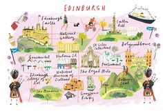 Clair Rossiter, map of Edinburgh for The Art Group