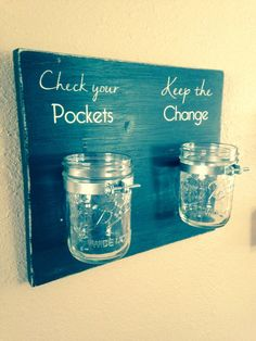 Check your pockets & Keep the change laundry room by TinasTinkers, $28.00