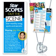 Thanks #starmagazine for featuring our Little Love Monkey, inspired by #disneynature's #MonkeyKingdom film, which swings into theaters today! #alexwoo #lovemonkey #monkeykingdom #disney #savorsilver #freidapinto
