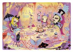'Mad Tea Party' by Camille Rose Garcia.