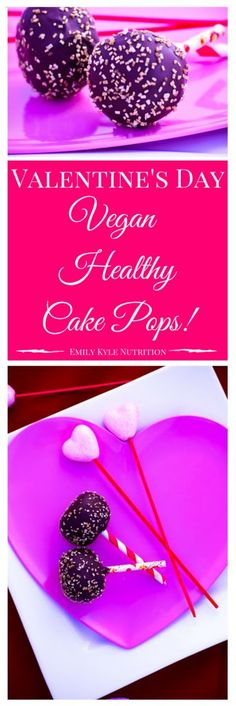 #Vegan | #Gluten Free | Healthy Cake Pops are made with wholesome and nutritious ingredients that come together to make the most delicious treat on a stick. | Healthy Cake Pops by Emily Kyle Nutrition