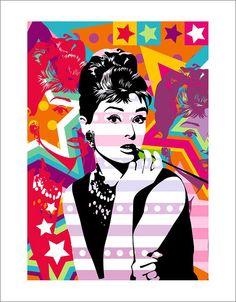 Lobo - Pop Art Audrey Hepburn