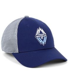 new style 0e2ed 4bd1d Authentic Mls Headwear Vancouver Whitecaps Fc Versalux Speed Flex Stretch  Fitted Cap - Blue L