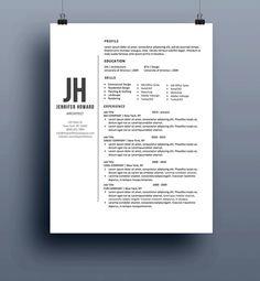 20 Beautiful & Free Resume Templates for Designers | Pinterest ...
