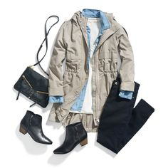 """Here are 5 simple tips for staying stylish in the rain! Make a splash in rain boots:Rain boots don't need to be gouache galoshes—modern rain boots mimic trends & styles that are current now. Layer up:When the weather woman says """"chance of showers, it's time for stylish outer layers—like an anorak or trench—to keep your …"""
