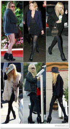 Staple Wedge Boot:  UCD: Style Spotlight: Mary-kate and Ashley Olsen