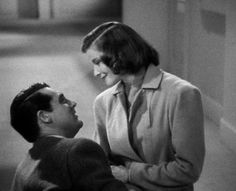 """Katharine Hepburn and Cary Grant in """"Holiday"""" (1938).  Cary once said about Katherine: """"She was this slip of a woman and I never liked skinny women. But she had this thing, this air you might call it, the most totally magnetic woman I'd ever seen, and probably ever seen since. You had to look at her, you had to listen to her, there was no escaping her."""""""