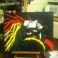 Bob Marley painting for an anniversary present. =D