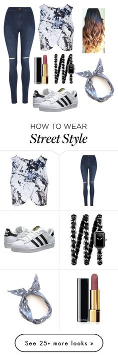 """""""street style"""" by anaeliseplaster on Polyvore featuring adidas Originals, Topshop, George and Chanel"""