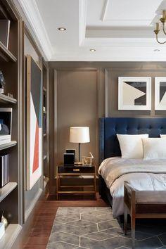Masculine Bedrooms designer spotlight: nam dang-mitchell design inc.   hermes bags