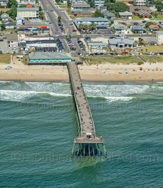 Kure Beach Pier Kure Beach North Carolina, Kure Beach Nc, Wilmington North Carolina, North Carolina Vacations, Wilmington Nc, Beautiful Places To Live, Oh The Places You'll Go, Beautiful Beaches, Nc Beaches