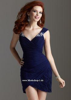 7929734ab1d4 Tolles Cocktailkleid Abendkleid Online in Navy Blau Eng