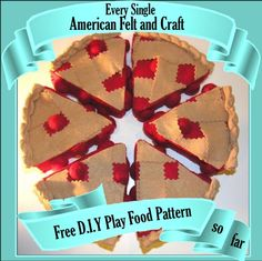 A Collection of our Free Felt Food Patterns and Tutorials Every Free DIY felt food pattern from American Felt and Craft all in one place. Food Crafts, Diy Food, Food Ideas, Clay Crafts, Play Kitchen Food, Play Kitchens, Kitchen Shop, Diy For Kids, Crafts For Kids