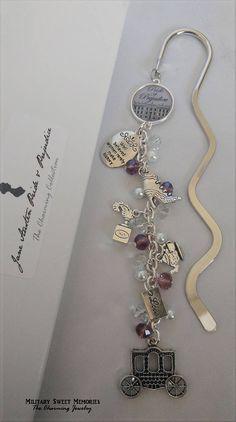 Jane Austen Pride and Prejudice Shiny Metal Beaded Bookmark