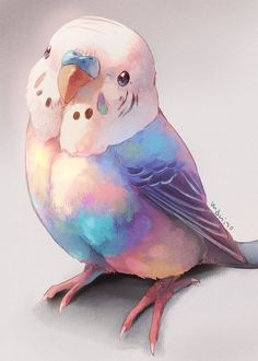 Ideas Cute Art Drawings Animals Artists For 2019 Cute Animal Drawings, Bird Drawings, Kawaii Drawings, Cute Drawings, Arte Sketchbook, Bird Illustration, Animal Illustrations, Digital Illustration, Cute Birds