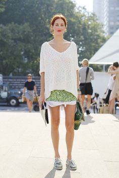 hi TTH. you the best.   Easy going green with a knit (my fave) + army green loafers. NOT BAD...