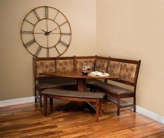 Amish East Port Kitchen Dining Nook Set Corner Dining Nook, Kitchen Nook Set,  Kitchen