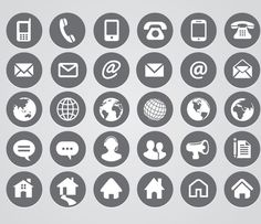 Free social media icons editable in ps design pinterest hera re 23 sets of free contact icons in vector and psd formats that you can use for your websites contact page and business cards colourmoves
