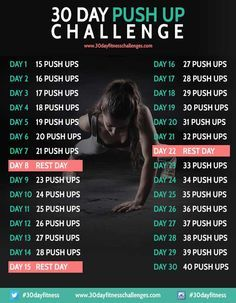 Take the 30 Day Push Up Challenge this month and get those big ripped arms you always wanted, simply by doing push up exercises every day for a month