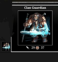 Adventure drop Warrior (Clan Guardian 29A - 37D)