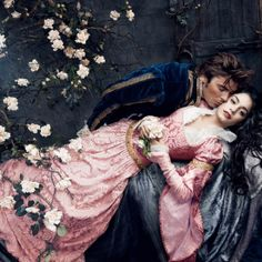 Sleeping Beauty: Vanessa Hudgens as Princess Aurora and Zac Efron as Prince Phillip. Disney Dreams Portrait Series by Annie Leibovitz (2009)