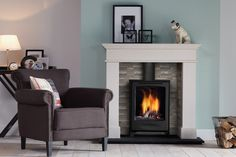 Global Beau is a classic, freestanding gas stove with a conventional flue that is designed to stand alone or be installed into inglenook chimneys. It is available in traditional black or a lustrous ivory finish, has an authentic log fire display and runs on natural gas or LPG.  #globalbeau #gas #stove #fire #fireplace #york #yorkshire
