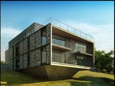 Gabions house