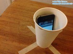 Utilisez un verre en carton comme enceinte iphone : LE PLUS EFFICACE
