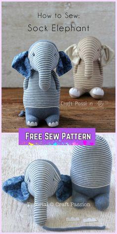Sew Sock Elephant DIY Tutorial