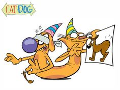 cat and dog. tv show from nickelodeon 2000s Cartoons, Nickelodeon Cartoons, Retro Cartoons, Animated Cartoons, Cool Cartoons, Disney Cartoons, Cartoon Shows, Cartoon Characters, Socializing Dogs