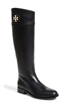 Free shipping and returns on Tory Burch 'Ashlynn' Riding Boot (Women) (Wide Calf) at Nordstrom.com. A leather-wrapped logo medallion adds signature Tory Burch polish to an always-elegant, equestrian-inspired boot crafted from supple, beautifully finished leather.
