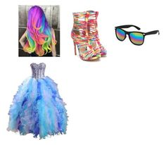 """""""rainbow girl"""" by bj-ruff on Polyvore featuring Blue Crown"""