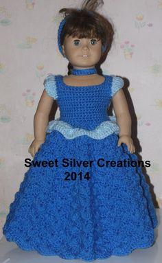 18 inch American Girl Crochet Pattern - Cinderella
