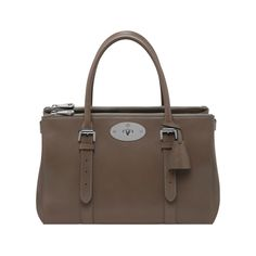 Mulberry - Bayswater Double Zip Tote in Taupe Shiny Goat