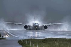 Aterrissagem na chuva