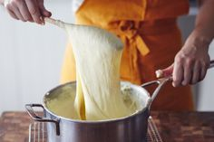 How To Make Pommes Aligot (Cheesy Whipped Potatoes), a step-by-step recipe. Traditional French food recipes can be complicated, but we'll break down the technique behind it so this will become one of the side dishes that's EASY to master. Comfort food has never tasted so good! If you like classic cheesy potatoes, just wait until you try this.